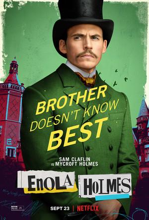 Enola Holmes (2020) Poster - Sam Claflin as Mycroft Holmes