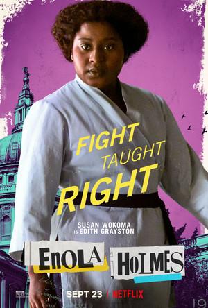 Enola Holmes (2020) Poster - Susan Wokoma as Edith Grayston
