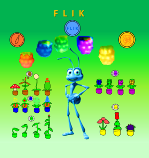 Flik the Ant All Berries Seeds and Tokens