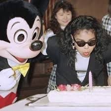Janet Jackson Celebrating Her Birthday With Mickey Mouse