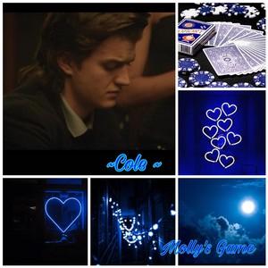 Joe Keery As Cole ( Blue themed aesthetic)