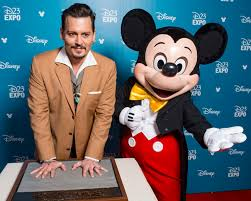 Johnny Depp And Mickey Mouse Disney 23 Expo