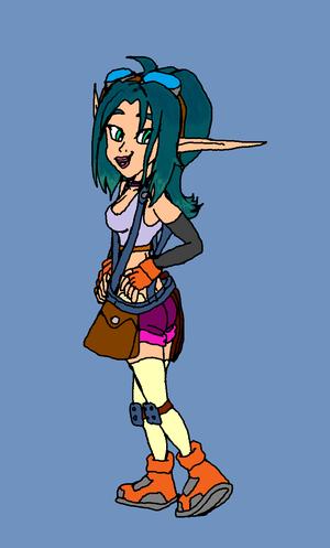 Keira Hagai.(Jak 3 Outfit)(Sigerreip Version) Blue