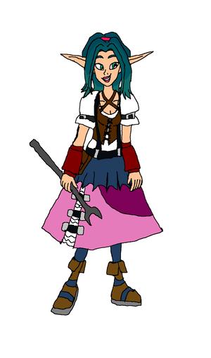 Keira Hagai. Mechanic Dress Tools (Lazella Version)