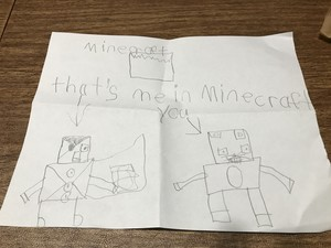 Liam's Minecraft Drawing