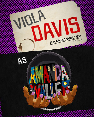 The Suicide Squad (2021) character posters || Amanda Waller