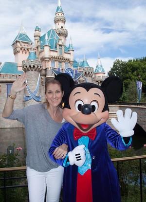Celine Dion Visiting Disneyland
