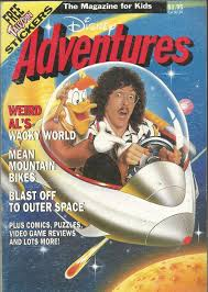 Weird Al Yankovic On The Cover Of Disney Adventures Magazine