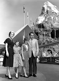 Richard Nixon And His Family Visiting Disneyland
