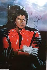 Thriller Painting Autographed da Michael Jackson