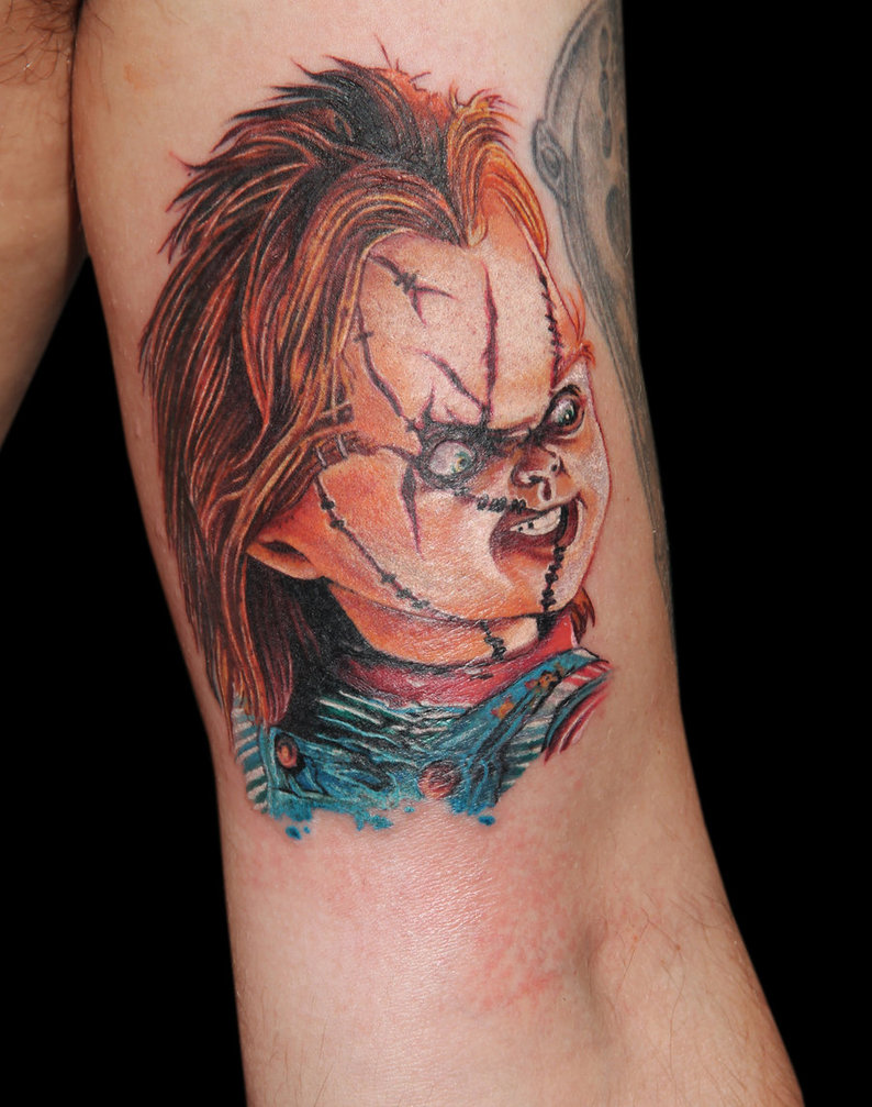 chucky vs tiffany tattoo pictures to pin on pinterest thepinsta. Black Bedroom Furniture Sets. Home Design Ideas