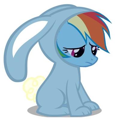 My little pony friendship is magic rainbow dash filly