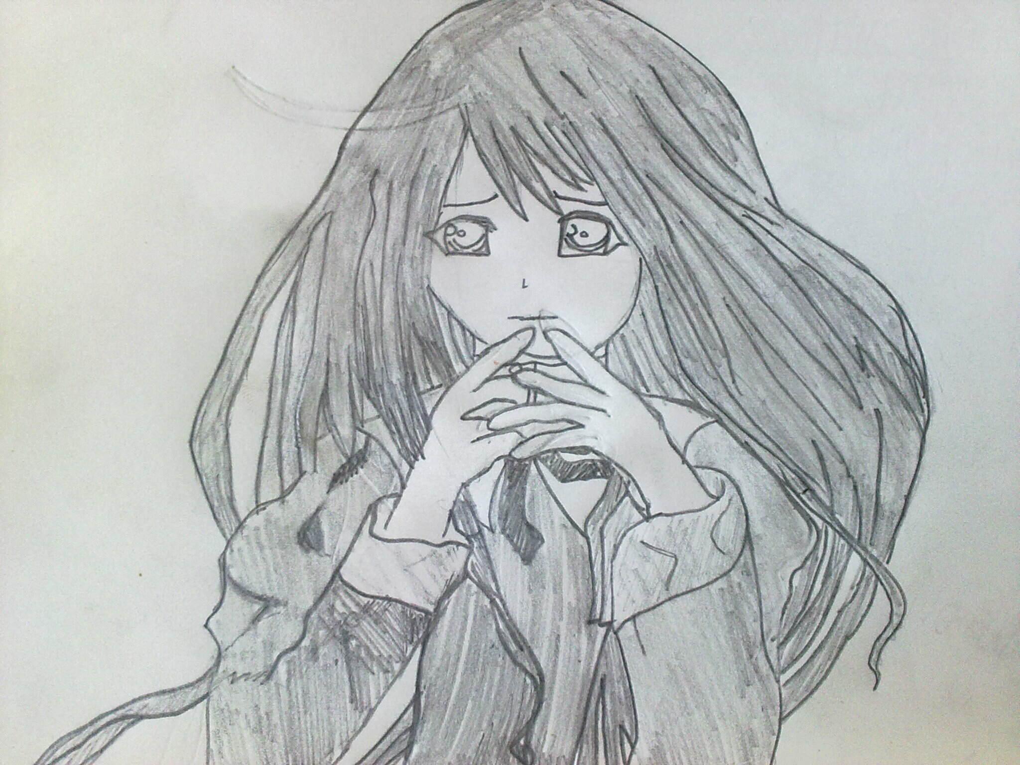 Anime Girl And Boy Sad Drawing Anime Collection