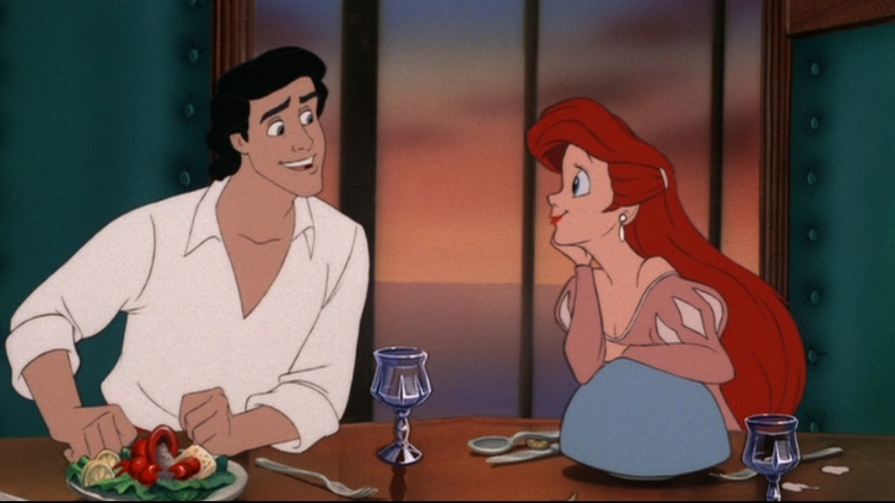 from the dinner scene in the little mermaid which facial