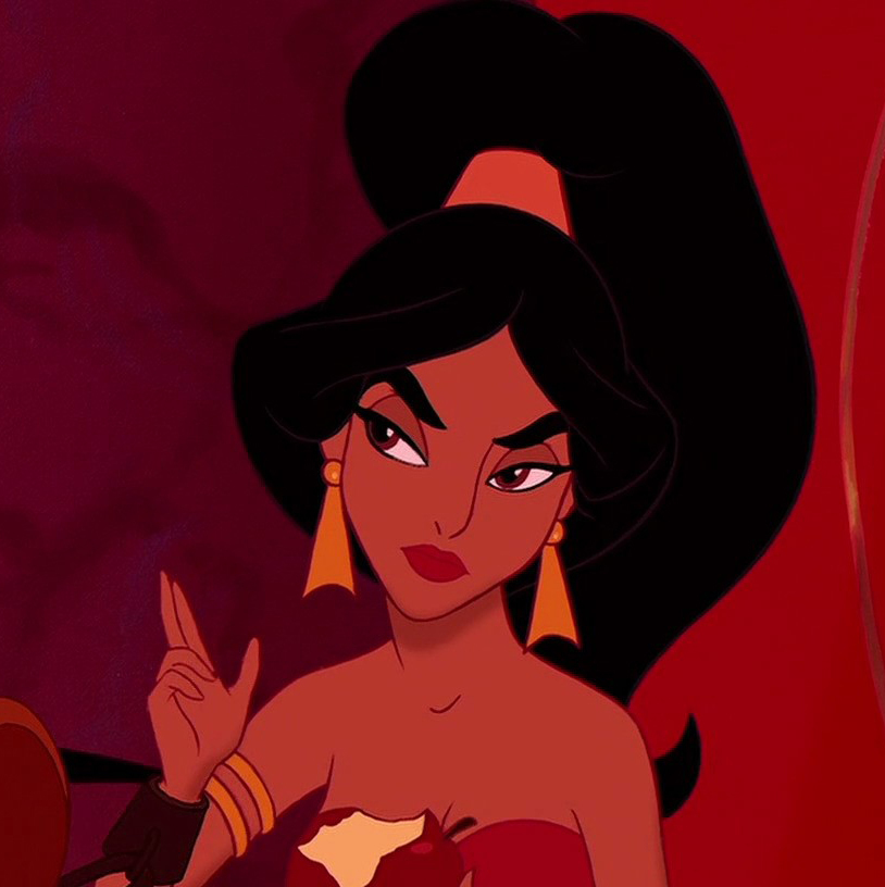 This Princess jasmine with short hair something is