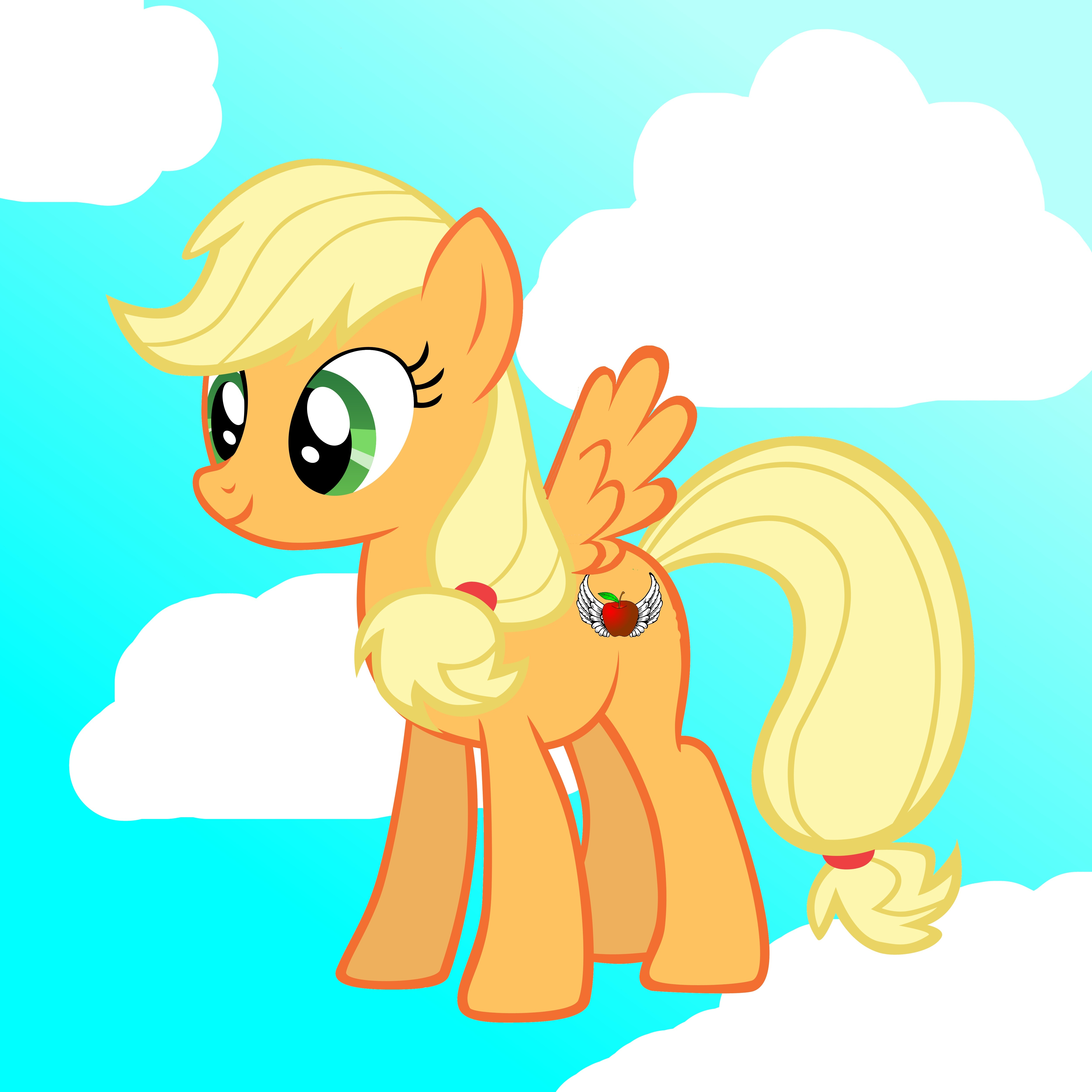 applejack with or without wings my little pony friendship is