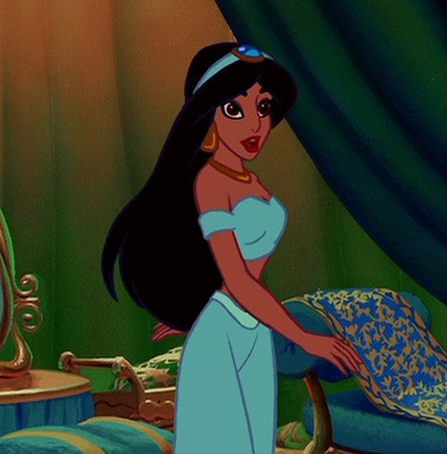 hair Princess jasmine with short