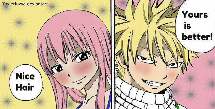 Nalu If Natsu Had Blond Hair And Lucy Pink Would They Still Look Good