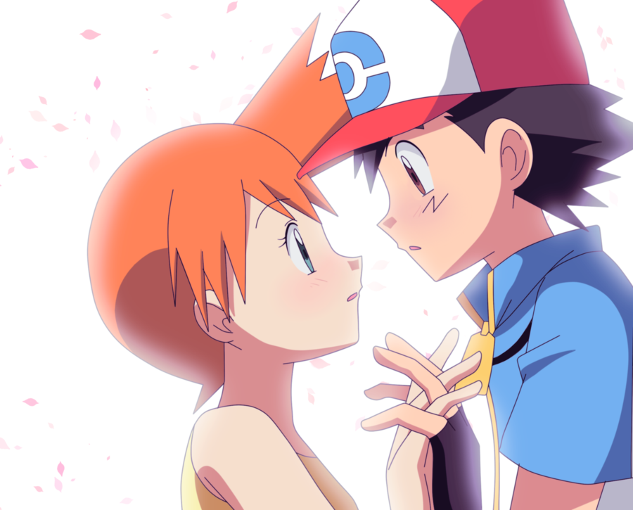 Ash and misty kiss the girl