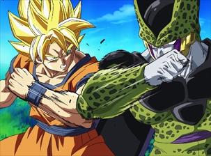 dragon ball z combat contre cell