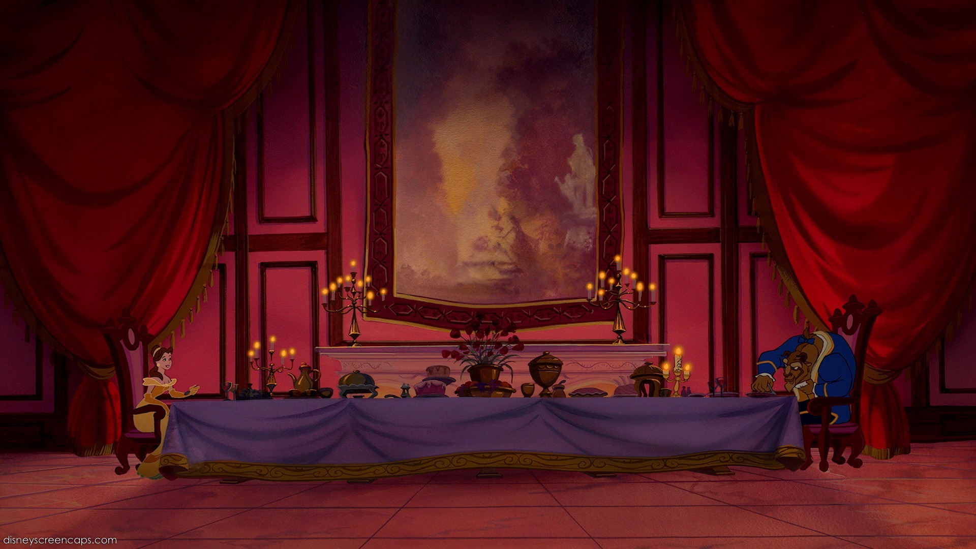 Beauty and the beast belles bedroom - Via