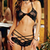 Stretch Lace Sleepwear Bra Top and Matching Strappy Short