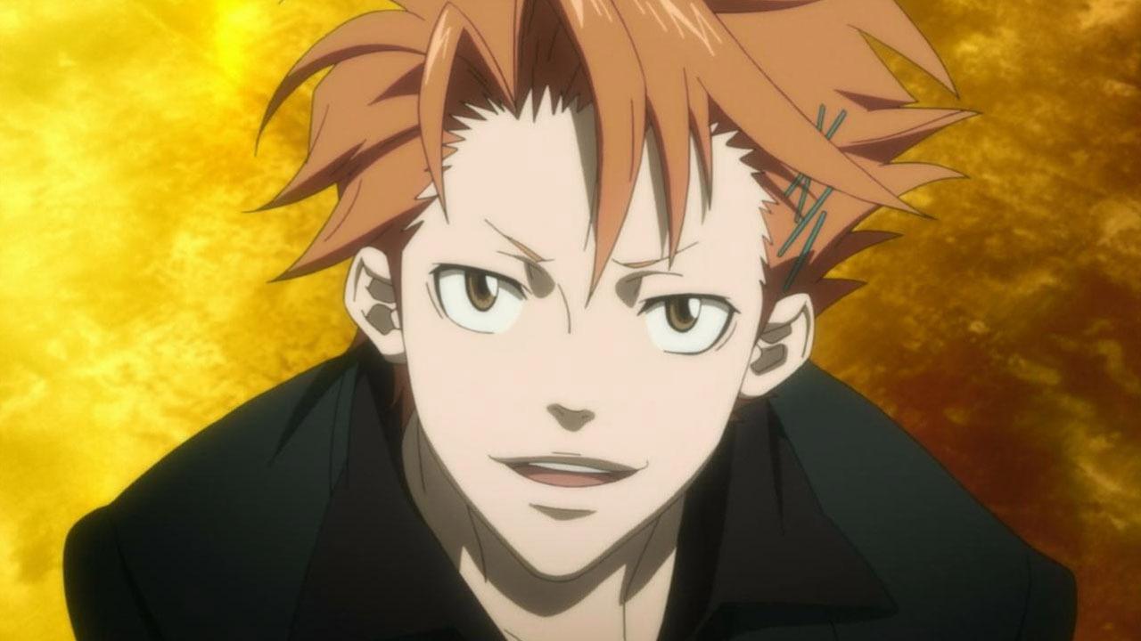 With guy Anime orange hair catalog photo