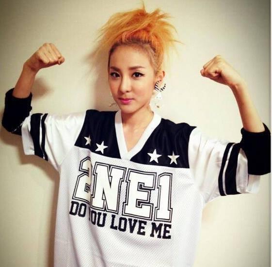 2ne1 dara blonde