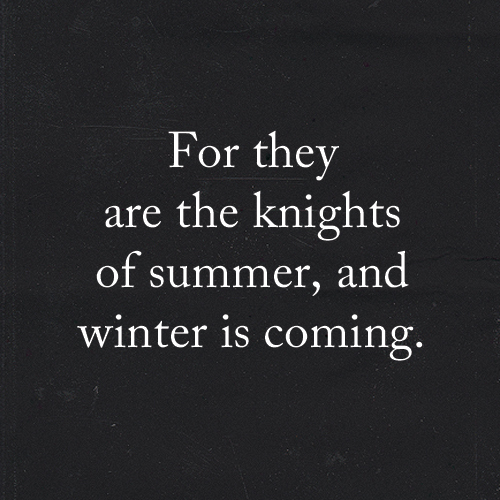 Winter Is Coming Quote Tumblr With Image