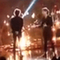 Louis trying to high-five Harry after his bad performance.