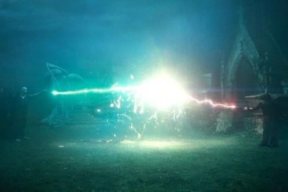 ハリーポッターの魔法がぶつかる