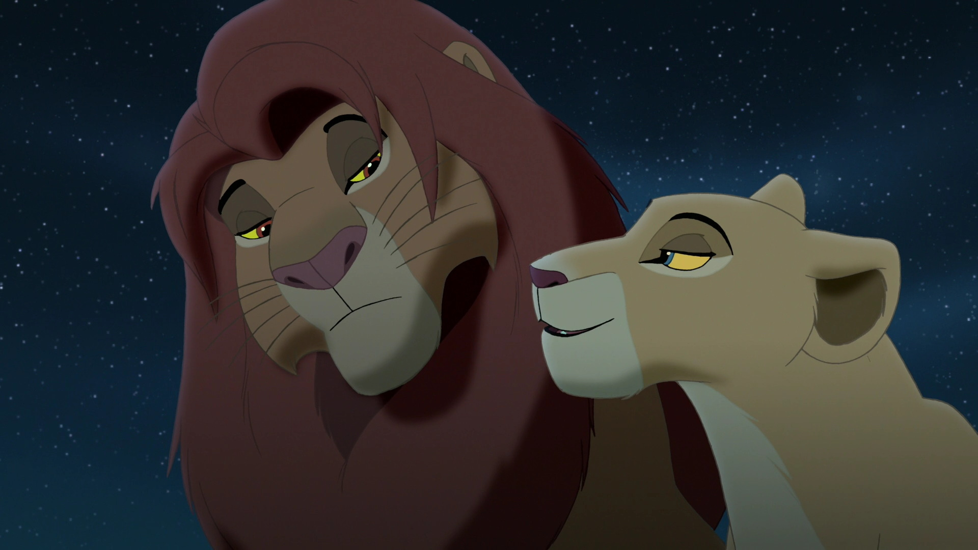 We never get to see Simba and Nala kiss by touching their ...