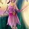 Magenta dress with golden flowers
