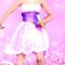 Snow white and purple dress