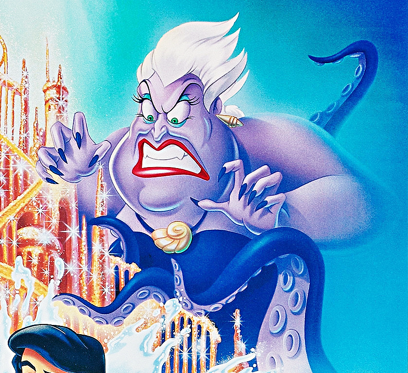 battle of the disney movie posterscovers ursula from