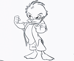 The Disney Fans - Favorite Disney Sketch Of Huey Duck From U0026quot;Quack Packu0026quot; (1996) U2605 - Walt Disney ...