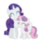 Rarity and Sweetie Belle