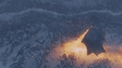 Dragon fire on a lake of ice