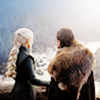 Jon Snow and Daenerys Targaryen // game of thrones