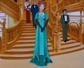Angelica's teal/aqua dress