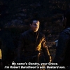 Gendry introduces himself to Jon Snow honestly