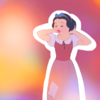 Snow White's length- short, ear level یا higher.