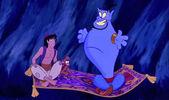 Aladdin và cây đèn thần và cây đèn thần with Abu, magic carpet and Genie