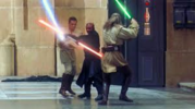 Obi-Wan Kenobi and Qui-Gon Jinn vs. Darth Maul