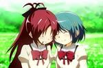 7 - Kyoko x Sayaka (Puella Magi Madoka Magica)