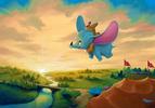 ★ Dumbo ''Flight Over the Big Top'' Giclée on Canvas por Rob Kaz ★