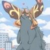 A giant hagedis and a giant mot, nachtvlinder