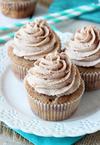 Cinnamon Sugar Swirl Cupcakes.