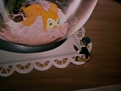 T/F: This scene is from Pinocchio (1940)