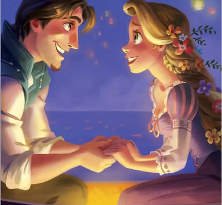 How many kisses in scene eugene and rapunzel?